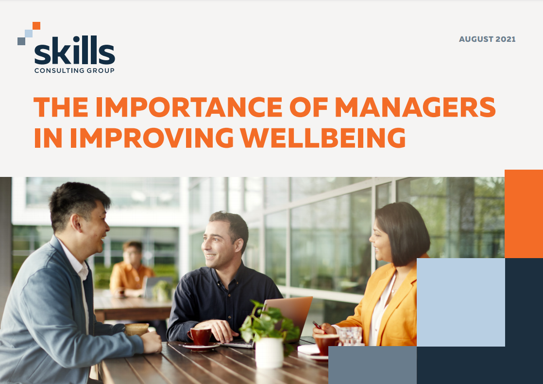 The cover of 'The importance of managers in improving wellbeing'